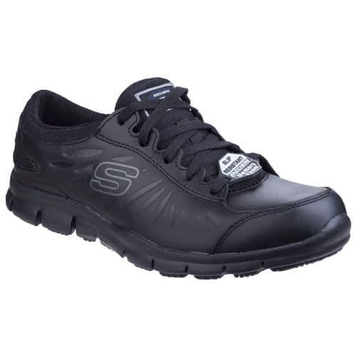 Skechers Eldred Ladies Occupational Footwear Black
